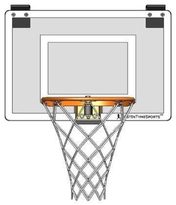 JustInTymeSports Door Mounted Mini Pro Basketball Hoop