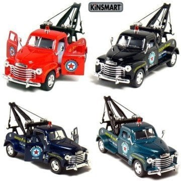 Set of 4 Tow Trucks from Small Car