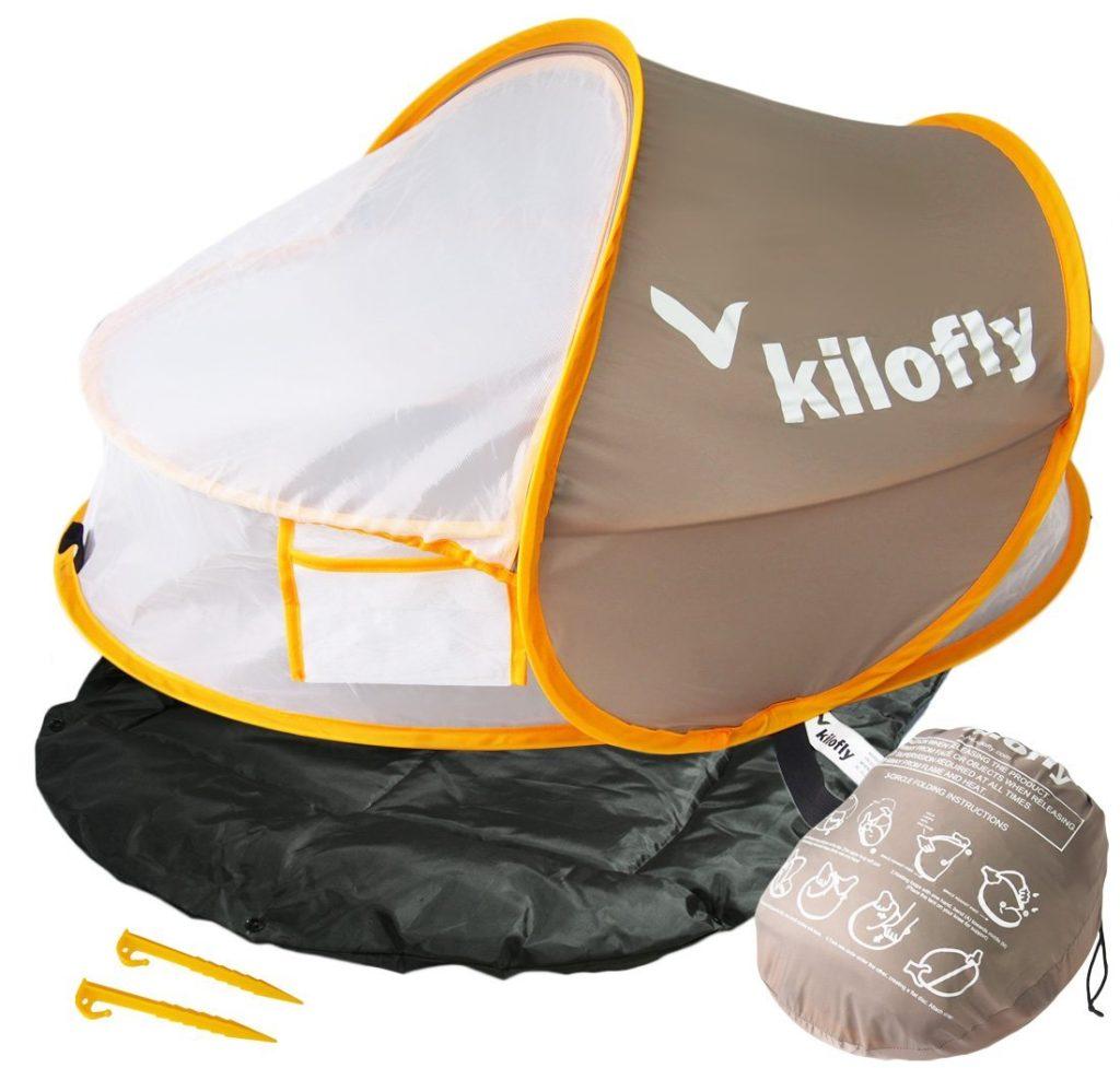 kilofly Instant Pop Up Portable UPF 35+ Baby Travel Bed - baby beach tent