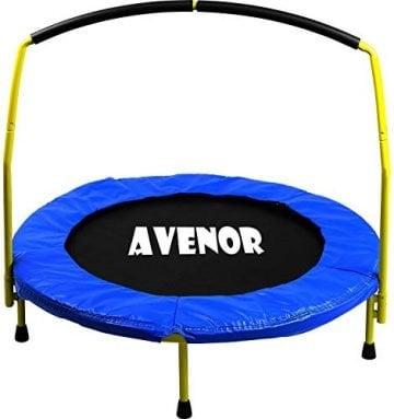 Image Of Avenor Toddler Indoor Trampoline With Handle Bar
