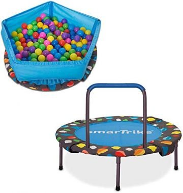 Image Of SmarTRIKE Activity Center 3 In 1 Foldable Indoor Trampoline