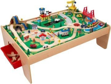 Kidcraft Waterfall Mountain Train Set and Table