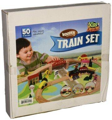 Kids Destiny Wooden Train Set for Thomas and Brio