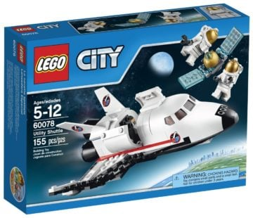 LEGO City Space Port 60078 Utility Shuttle Building Kit - Space Shuttle Toy Set