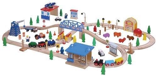 Maxim Enterprise Inc. Wooden Train Set