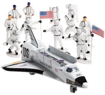 Prextex Die-Cast Metal Space Shuttle with Astronaut Figures