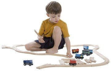 Wooden Train Track Deluxe Set by Kids Destiny