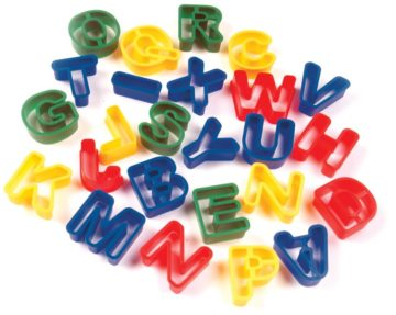 Creativity Street Dough Cutters, Capital Letters, 26-Pack - play doh eggs