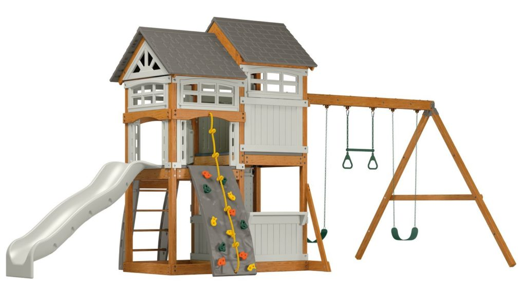 Suncast Vista Outdoor Swing and Play Set