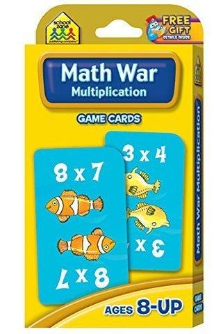 Math War Multiplication Game Cards - multiplication flash cards