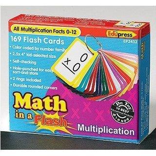 Edupress Math In A Flash Multiplication Flash Cards