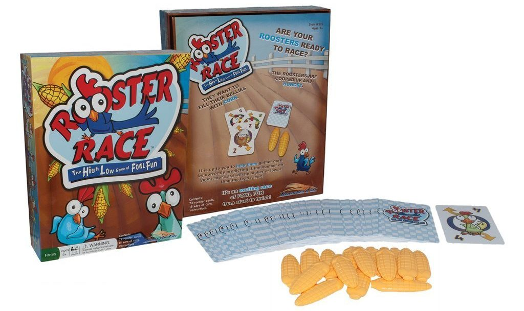 RoosterFin Rooster Race - card games for kids