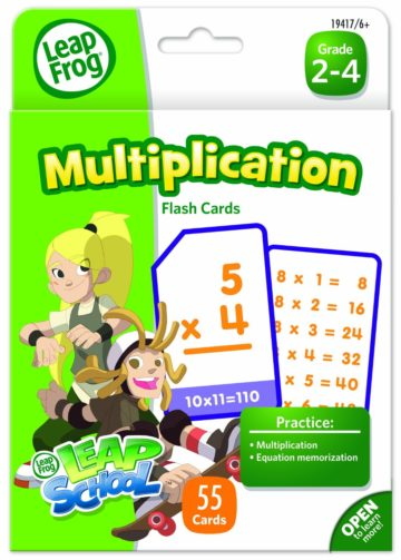 LeapFrog LeapSchool Multiplication Flash Cards for Grades 2-4