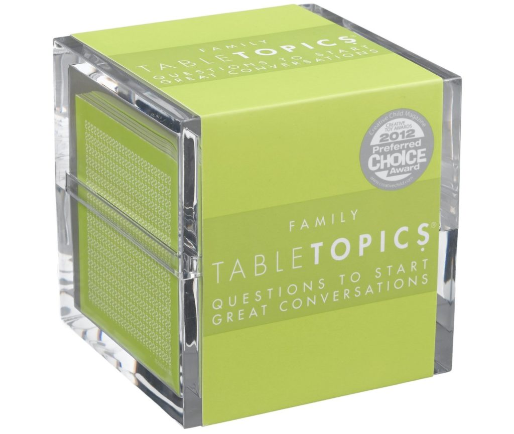 TABLETOPICS Family: Questions to Start Great Conversations - card games for kids
