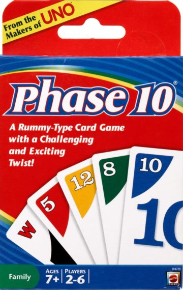 Phase 10 Card Game - card games for kids