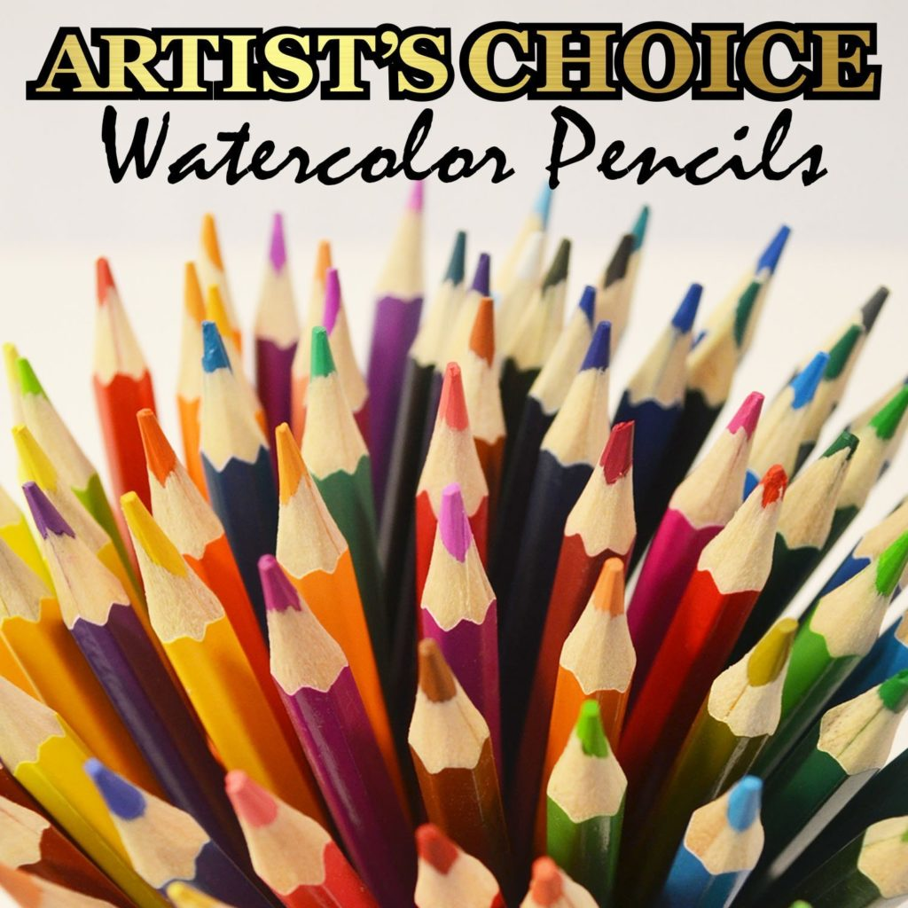 Artist's Choice Colored Pencils with Watercolor Paint Brush and Case