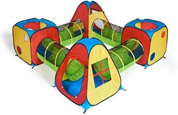 Image of UTEX 8 in 1 Pop Up Play Tent House
