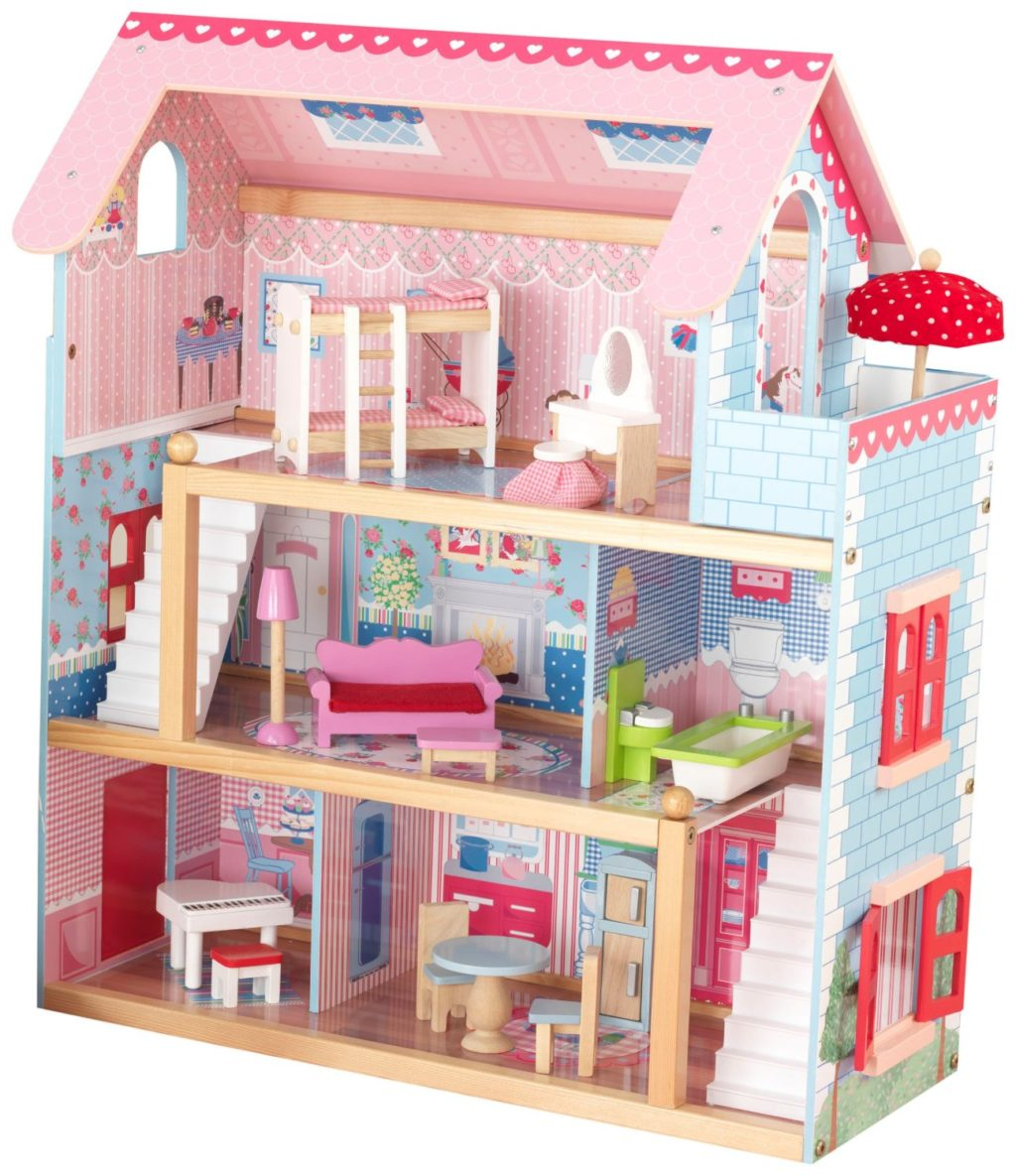 kidkraft chelsea doll cottage with furniture barbie doll house furniture sets