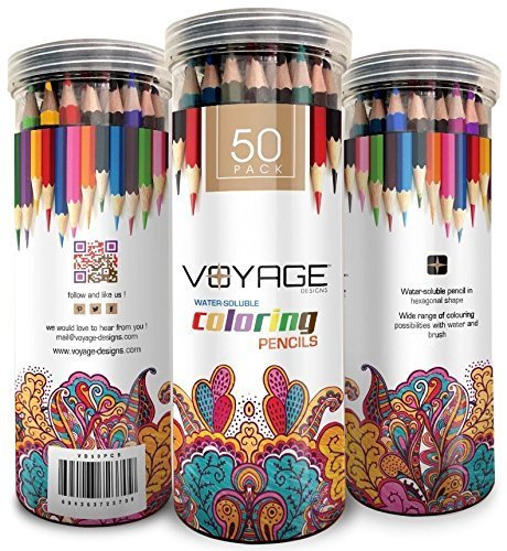 Voyage Designs Colored Pencils Pack of 50