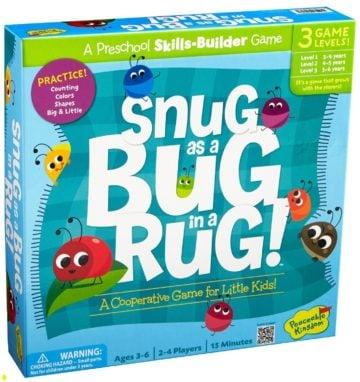 Peaceable Kingdom Snug as a Bug in a Rug - educational games