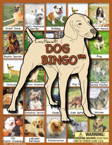 Dog Bingo Board Game - dog games