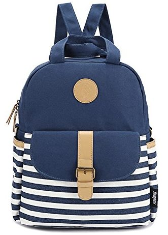 Leaper Thickened Canvas Laptop Bag Backpack for Girls