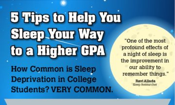 Getting Enough Sleep is Vital to Academic Success (Infographic)