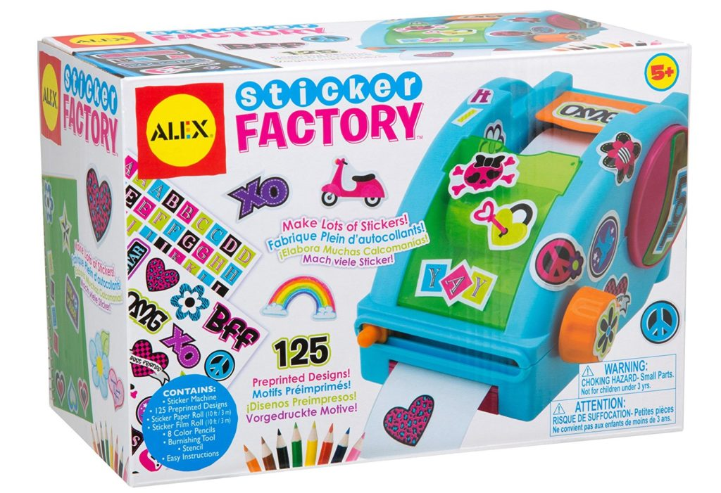 7 cool sticker maker toys and machines for creative kids for Alex toys craft color a house children s kit