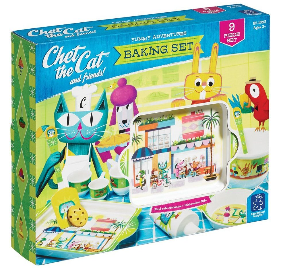 Educational Insights Chet the Cat and Friends Baking Set - Baking Games