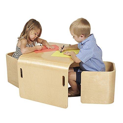 Image of ECR4Kids 3 Piece Bentwood Multipurpose Furniture Set