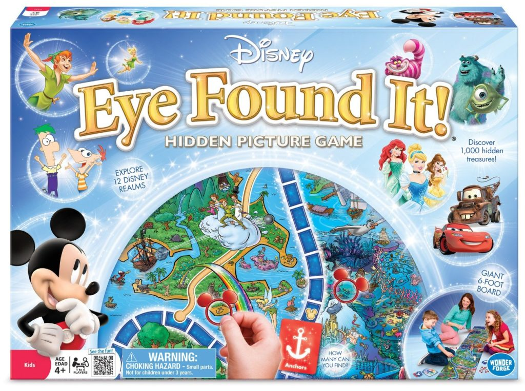 World of Disney Eye Found It Board Game - games for girls