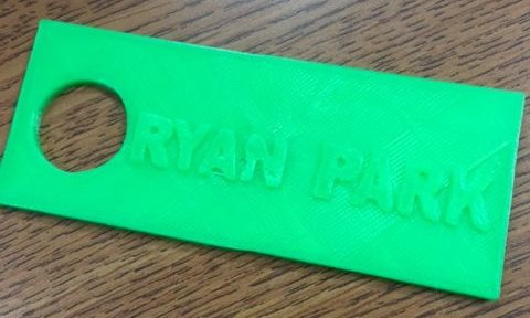 Ryan Park 3D printed object
