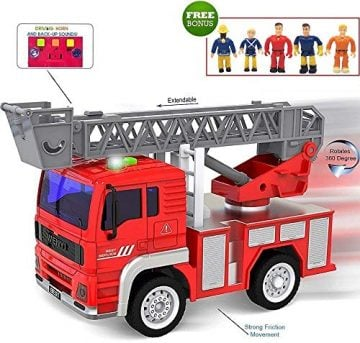 Image of Funerica Toy Fire Truck with Lights and Sound