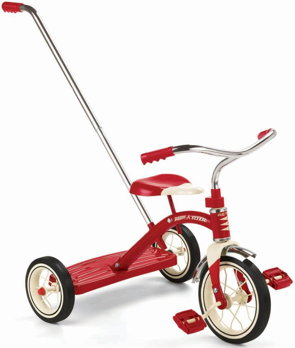 Radio Flyer Classic Tricycle with Push Handle - trike