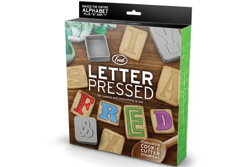 Fred and Friends Letter Pressed Cookie Cutters