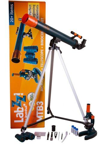 Levenhuk LabZZ MTB3 Microscope & Telescope & Binoculars Science Kit
