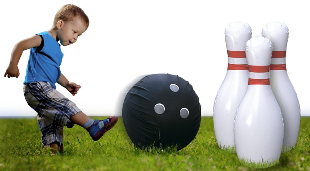 Kleeger Giant Jumbo Inflatable Bowling Game Set