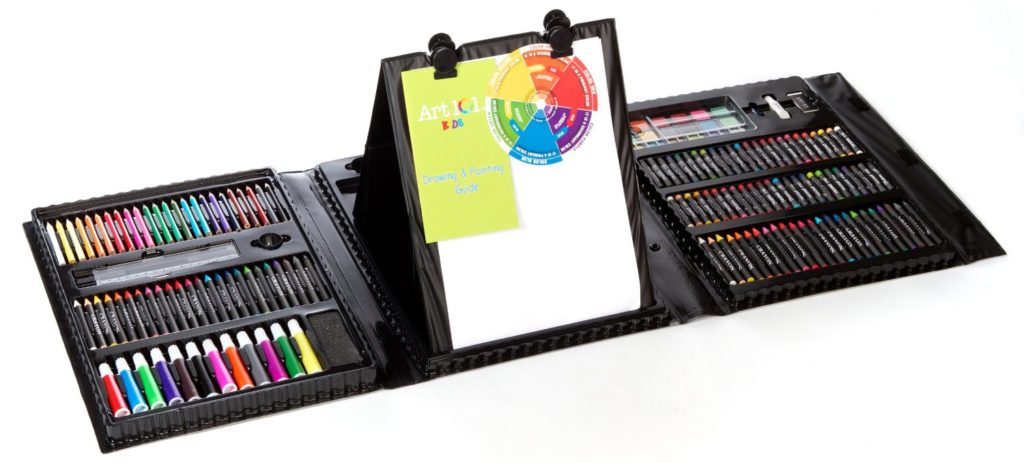 Art 101 Kids 179-Piece Double Sided Trifold Easel Art Set - art sets