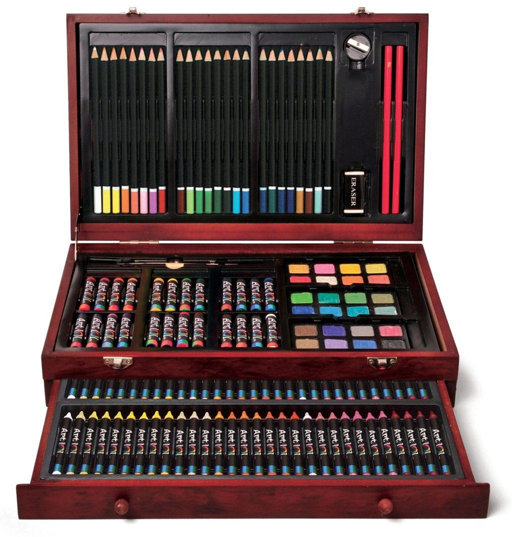 Art 101 142-Piece Wood Art Set - art sets