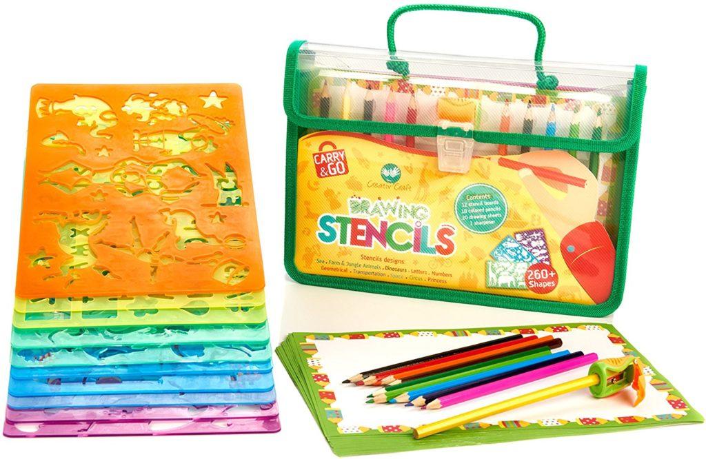 Creativ' Craft Large Drawing Stencils Art Set for Kids - art sets