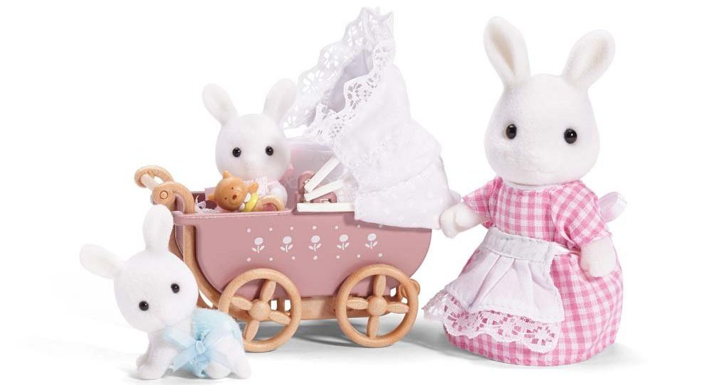 Calico Critters Carriage and Twins e1486028472405