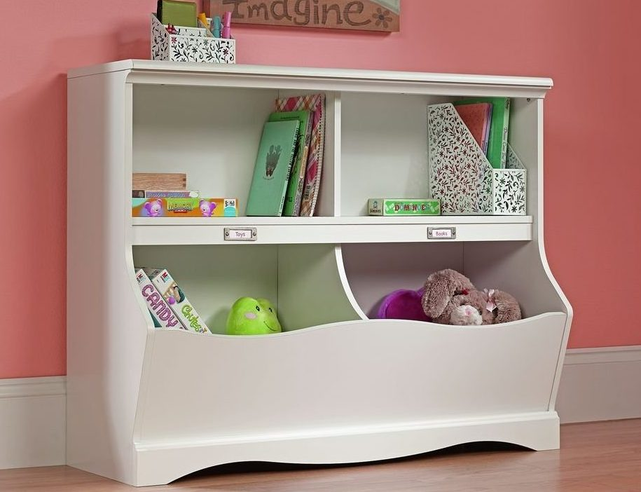 sauder pogo bookcase toychest e1487081353744 - 7 Toy Chest Storage Solutions To Manage The Mess