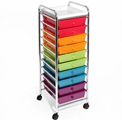 10-Drawer Organizer Cart