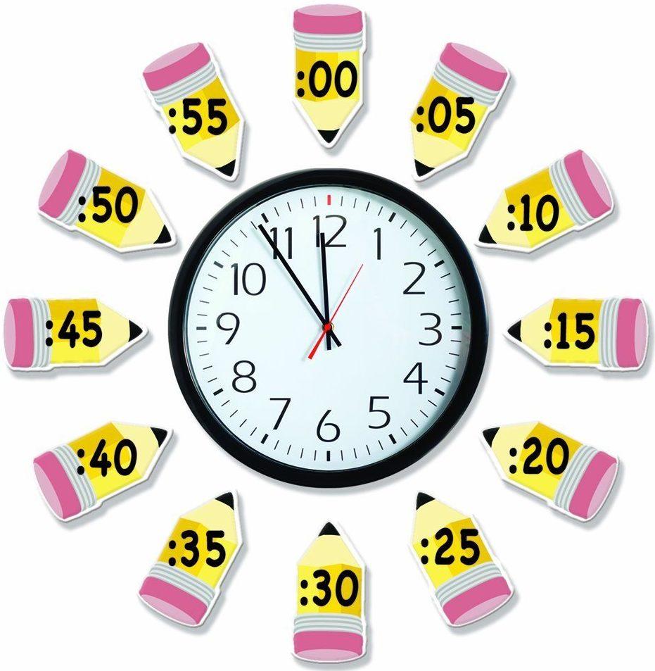 Eureka Time Telling Bulletin Board Set