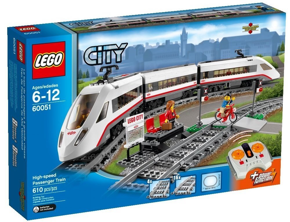LEGO City Trains High-speed Passenger Train 60051 Building Toy