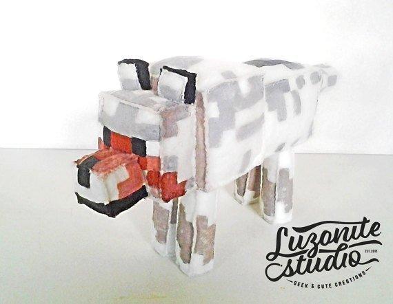 Luzonite Studio's Handmade Plush Minecraft Toys