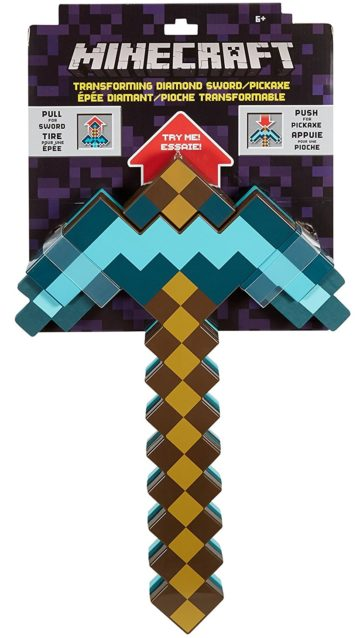 Minecraft Toys Transforming Diamond Sword and Pickax