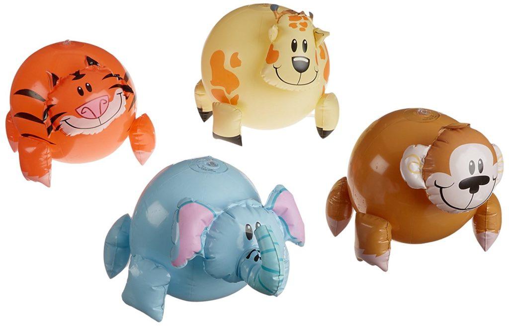 Fun Express Inflatable Jungle Animals Beach Ball Set (Set of 12)