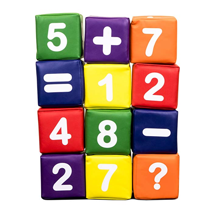 Image of Dream Tree Foam Building Blocks with Numbers
