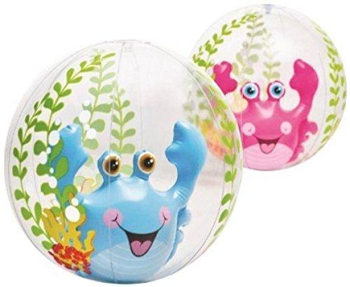 Intex Transparent Aquarium 3D Crab Beach Balls (2 Pack)